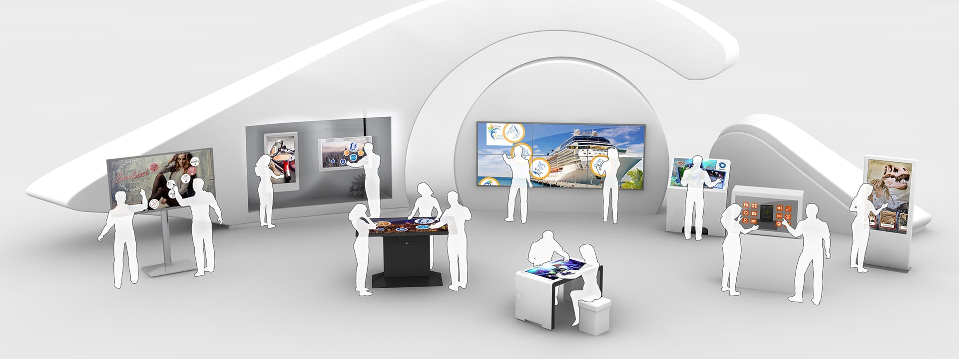 Multi touch screen software for Cruise Ships & Travel