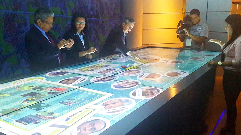Customized touchscreen software in the museum of the Ecuadorian Football Federation