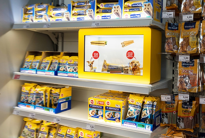 Innovatives Touchscreen Konzept am POS für Mars Petcare in Berlin