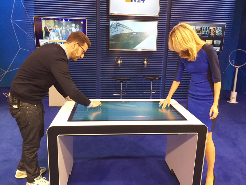 N24 news channel uses touch table software by eyefactive